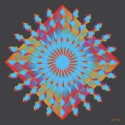 Metaphysics Prints - Mandala No. 29 Print by Alan Bennington