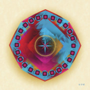 Metaphysics Prints - Mandala No. 30 Print by Alan Bennington