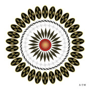 Tantric Framed Prints - Mandala No. 31 Framed Print by Alan Bennington
