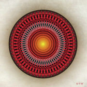 Holy Ring Prints - Mandala No. 32 Print by Alan Bennington