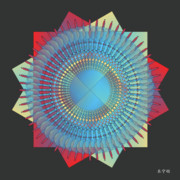 Metaphysics Prints - Mandala No. 34 Print by Alan Bennington