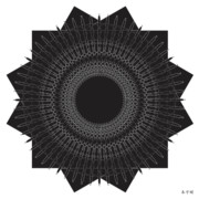 Metaphysics Prints - Mandala No. 35 Print by Alan Bennington