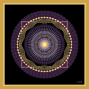 Holy Ring Prints - Mandala No. 39 Print by Alan Bennington