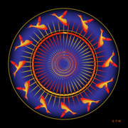Metaphysics Prints - Mandala No. 5 Print by Alan Bennington