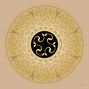 Holy Ring Prints - Mandala No. 57 Print by Alan Bennington