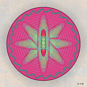 Metaphysics Prints - Mandala No. 58 Print by Alan Bennington