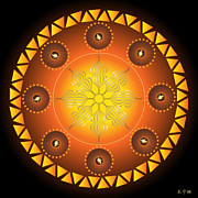 Holy Ring Prints - Mandala No. 60 Print by Alan Bennington
