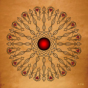 Metaphysics Posters - Mandala No. 61 Poster by Alan Bennington