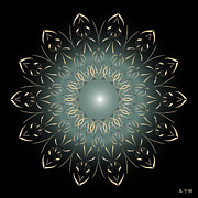 Holy Ring Prints - Mandala No. 64 Print by Alan Bennington