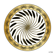 Metaphysics Prints - Mandala No. 75 Print by Alan Bennington