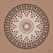Metaphysics Prints - Mandala No. 83 Print by Alan Bennington