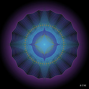 Metaphysics Digital Art Framed Prints - Mandala No. 88 Framed Print by Alan Bennington