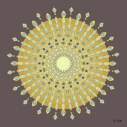Holy Ring Prints - Mandala No. 9 Print by Alan Bennington