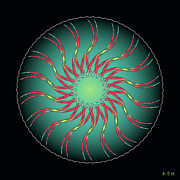 Metaphysics Prints - Mandala No. 91 Print by Alan Bennington