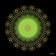Metaphysics Prints - Mandala No. 92 Print by Alan Bennington