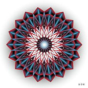 Metaphysics Prints - Mandala No. 94 Print by Alan Bennington