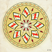 Metaphysics Prints - Mandala No. 99 Print by Alan Bennington