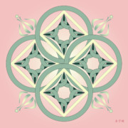 Metaphysics Prints - Mandala No.8 Print by Alan Bennington