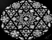 Israel Drawings - Mandala of hope phase 1 by Lisa Brandel