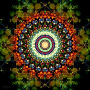 Sacred Circle Prints - Mandala of Loves Journey Print by Stephen Lucas
