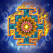 Visionary Art Prints - Mandala Shiva Print by Mark Myers