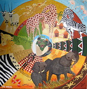 Tree Mandala Originals - Mandala Tribute to Africa by Pat Barker