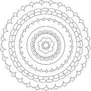 Ornate Drawings - Mandala9A by The Mandala Company The Mandala Company