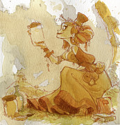 Women Painting Metal Prints - Mandarin Metal Print by Brian Kesinger