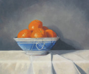 Orange Painting Prints - Mandarines Print by John Holdway