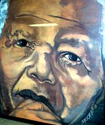 Excellence Painting Prints - Mandela Print by Michael Mahue Moore