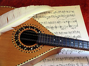 Melody Art - Mandolin and Partiture by Carlos Caetano