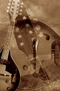 Guitar Art Prints Prints - Mandolin Dream 2 Print by Leilani Smith