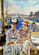 Boaters Photo Prints - Manet: Boaters, 1874 Print by Granger