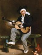 1860 Framed Prints - Manet: Guitarero Framed Print by Granger