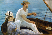 1874 Photo Metal Prints - Manet: On A Boat, 1874 Metal Print by Granger