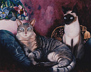 Posters On Paintings - Manets Olympia Cats by Eve Riser Roberts