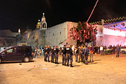 Nativity Photo Prints - Manger Square at Night Print by Munir Alawi