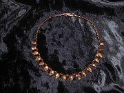 Smokey Quartz Jewelry - Mango shape pyrite necklace by Jan Durand