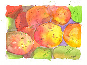 Lite Bright Prints - Mangoes Print by Audrey Peaty