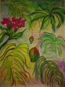 Mix Medium Mixed Media Prints - Mangoes Print by Lee Krbavac