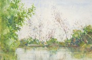 Pond Reflection Prints - Mangrove Swamp Print by Henry Scott Tuke