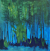 Mccoy Painting Posters - Mangroves Poster by Nickola McCoy-Snell