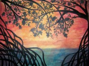 Puerto Rico Paintings - Mangroves by Patti Spires Hamilton