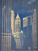 World Cities Digital Art Metal Prints - Manhattan 1 Metal Print by Irina  March