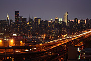 Manhattan Night Framed Prints - Manhattan- 2 Framed Print by Mark Ashkenazi