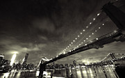 Aurica Voss Metal Prints - Manhattan After Dark Metal Print by Aurica Voss