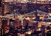 Manhattan And Brooklyn Bridges Print by Rob Kroenert