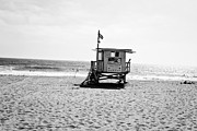 Beach Shack Prints - Manhattan Beach Lifeguard Shack Print by Scott Pellegrin