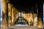 Environment Prints - Manhattan Beach Pier Sunrise Print by Josh Whalen