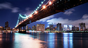 Johnny Sandaire Prints - Manhattan Bridge Print by Johnny Sandaire